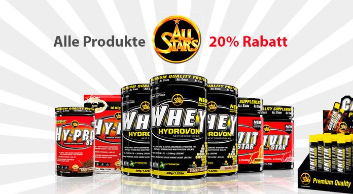 All Stars Produkte zu 20% Rabatt
